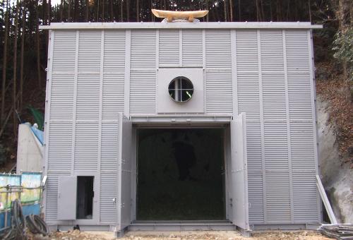 トンネル工事用防音扉 モデル40-1