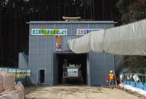 トンネル工事用防音扉 モデル40-2